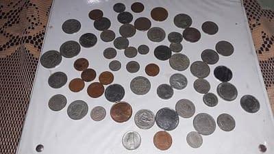 Vendo lote de 60 monedas antiguas